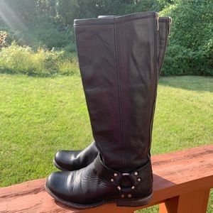 Frye Phillip Harness Tall Riding Boots Size 5-1/2